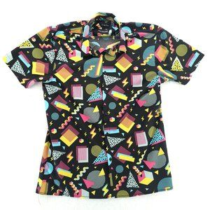 Drill Clothing 90s Theme Camp Button Front Shirt
